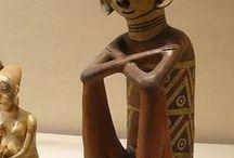 индейцы / скульптура и живопись