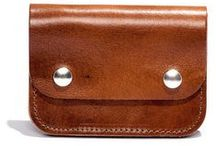 Rustic Handmade Wallets / These wallets have that traditional leather craft feel.