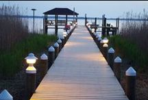 Piling Caps / Piling Caps can protect and give a distinct and finished look to nondescript dock/pier pilings, and other wooden, concrete or composite posts.  Call us for your piling caps. 561-723-0934. www.MacCapLighting.com.  https://www.facebook.com/Mac.Cap.Lighting