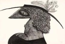SAUL STEINBERG  / SAUL STEINBERG 15.06.1914 - 12.05.1999 - AMERICAN CARTOONIST & ILLUSTRATOR (THE NEW YORKER) / by ANGELA KIDEMA