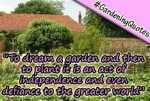 """Top 100 Gardening Quotes / A 'Fun' & 'Educational' Collection of our """"Top 100 Gardening Quotes"""".  Please share and help spread some gardening love! <3 :)"""