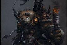 Minotaurs / Minotaur Warriors and Barbarians