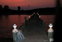 Watching Fireworks From Boat Docks / A Perfect Spot to Watch a Fireworks Display Is a Boat Dock With an Unobstructed View of the Night Sky.          Unobtrusive Dock Lights Provide the Illumination Needed to Watch and Enjoy Them Safely!  www.MacCapLighting.com   /    561-723-0934