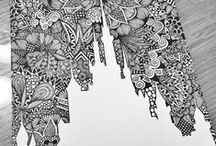 ⟫Ƶᗴᑎ丅ᗩᑎǤᒪᗴ⟪ / Zentangle drawings that i find inspiration from! ʕ•ᴥ•ʔ