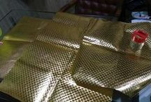 foil laminated non woven for gifting / foil laminated non woven for bags and packaging
