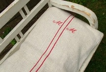 How to use a Vintage Linen Grain Sack