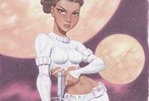 STAR WARS : Padme Amidala (Handmaiden, Queen, Senator, Luke & Leia's Mom) / If you don't know who Padme is, step into my office...cuz you're fukkin fired. / by Evan Williams