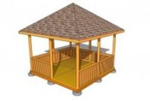 Free Gazebo Plans / Free gazebo plans - How to build a gazebo - Square gazebo plans - Rectangular gazebo plans