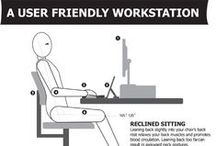 Office Ergonomics / it's important to keep a good posture whilst working at a desk. Take a look at these labelled guides.