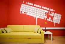 Wallpaper/Vinyl Wall Art / Creative wallpaper + vinyl wall art fit for offices + workplaces
