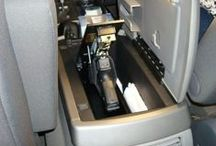 FAS1 SAFE - Mounted in Vehicles / Misc. photos of customer installed FAS1 handgun safes installed in their vehicles.