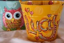 BUCKETS OF FUN / Personalized, hand painted buckets for Easter and beyond