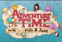 """Onesie Mood Board: Adventure time / For my onesie, I will include the colours and patterns of the characters from my favourite cartoon, and  I want to change the title so that it says """"sleep time"""" instead."""