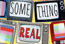 SOMETHING REAL / My debut YA novel, out now from Macmillan: Seventeen-year-old Bonnie™ Baker has grown up on TV—she and her twelve siblings are the stars of one-time hit reality show Baker's Dozen. Since the show's cancellation and the scandal surrounding it, Bonnie™ has tried to live a normal life, under the radar and out of the spotlight. But it's about to fall apart…because Baker's Dozen is going back on the air.