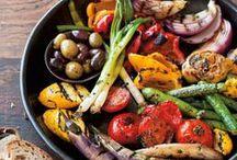 légumes grillés et fruit confit