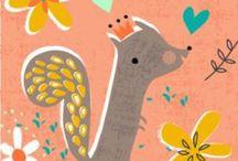 Illustration - Woodland / Woodland themed inspiration for illustration and surface print design