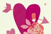 Illustration - Valentine's Day / Valentine's themed inspiration for illustration and surface print design