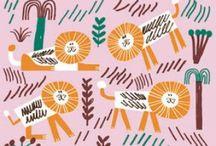 Illustration - Safari / Safari themed inspiration for illustration and surface print design