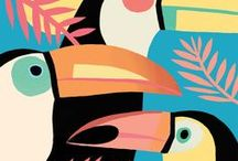 Illustration - Tropical / Tropical themed inspiration for illustration and surface print design