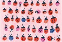 Illustration - Bug Life / A bug themed inspiration board for surface print and pattern design