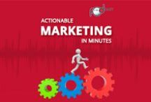 Podcasts: Actionable Marketing in Minutes / Bite-sized marketing ideas. Delivered fast. Mostly around the digital marketing space, but you never know when we'll go on a wild (but fast) tangent to advise on other offline marketing efforts.
