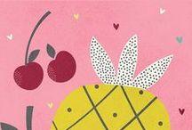 Illustration - Food / A food inspiration board for illustration and surface pattern design