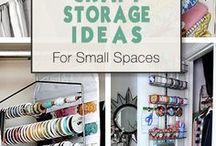 Organizing craft space / Jak zorganizować sobie przestrzeń do pracy. Zobacz inspiracje na naszej tablicy oraz warsztatowe przydasie.