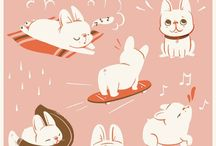 Illustration - Dogs / A Dogs inspired board for surface pattern design and illustration.