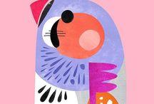 Illustration - Birds / A Birds inspired board for surface pattern design and illustration