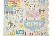 Illustration - Farmyard / A  farmyard themed inspiration for illustration and surface print design