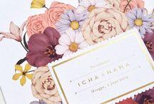 Illustration - Wedding / A wedding themed inspiration for illustration and surface print design