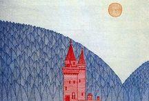 Illustration - Landscape / A landscape inspiration board for illustration and surface pattern design