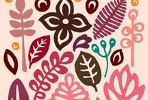 Illustration - Leaves And Foliage / A leaves and foliage inspiration board for illustration and surface pattern design