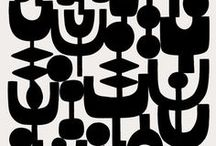 Design - Black And White / A black & white colour inspiration board for illustration and surface pattern design