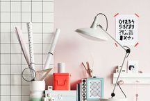 Home: Office / An inspiration board for home office home decor
