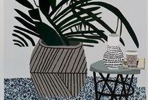 Illustration - Still Life / A still life inspiration board for illustration and surface print design