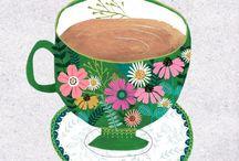 Illustration - Tea / An illustration board for lovers of tea in illustration and surface print design