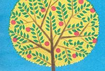 Illustration - Trees / An inspiration board of trees for illustration and surface pattern design.