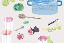 Illustration - Kitchen / Kitchen inspired illustrations and pattern design