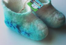 Felt baby shoes pre-walker by Philosopher's Joke. / Handmade felted baby shoes made with love for little angels.