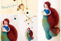 Wool felted creations by Philosopher's Joke / Wool Felted creations with needlefelting technique.