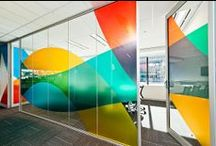 Inspiring Office Design / Wow! The large-scale graphics and photography in these offices create exciting and dynamic spaces.