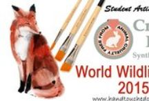 """Love Animals / #Art & #Quotes about #animals and #wildlife because """"Good Art Does Not Have To Cost A Life"""". Hand Touched Crafts, #Student #Artist #Brush #Set is made of 100% #Synthetic Brush Fiber - No animals lives were #sacrificed in the making of our #handcrafted USA made artist #paintbrush #set. See our website - http://www.handtouchedcrafts.com"""