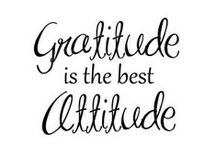 Gratitude / Gratitude is a wonderful trait to have. Be grateful for everything around you.