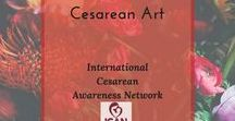 Cesarean Art / Artistic expressions and birth art highlighting cesarean birth and recovery