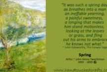 Spring Paintings & Quotations / Inspirational quotations and artwork based on the theme of spring.