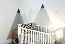 Nursery Inspiration - Mountains / Mountain nursery inspiration for new baby or toddler bedrooms and playrooms.