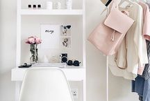 Home Office / My favourite picks and inspiration for small space home office design and organisation.