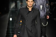 Monochromatic Man / For the man who wears black. And only black. Maybe charcoal grey.   / by Heidi Ohlander