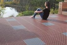 Outdoor Floors - Balconies, Terraces & Patios / Creating special places to relax and entertain in your garden, on the roof terrace or balcony with Bergo flooring. / by TactTiles Flooring